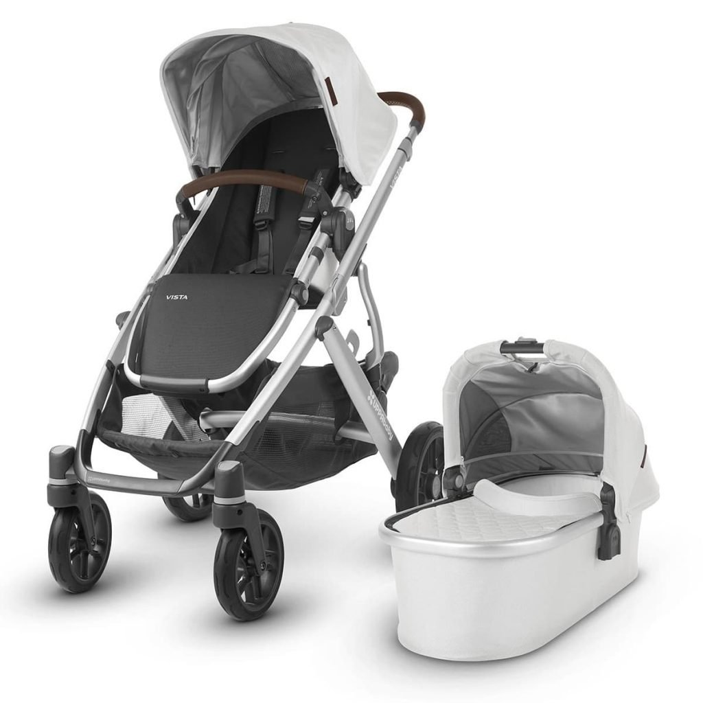 Double Stroller UPPAbaby VISTA black front left angle